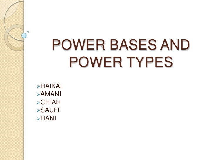 POWER BASES AND POWER TYPES <br /><ul><li>HAIKAL