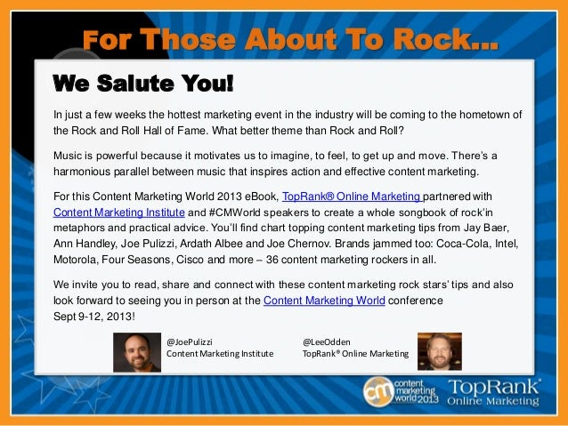 Cmworld 2013 ebook with content marketing institute and toprank online fandeluxe Ebook collections