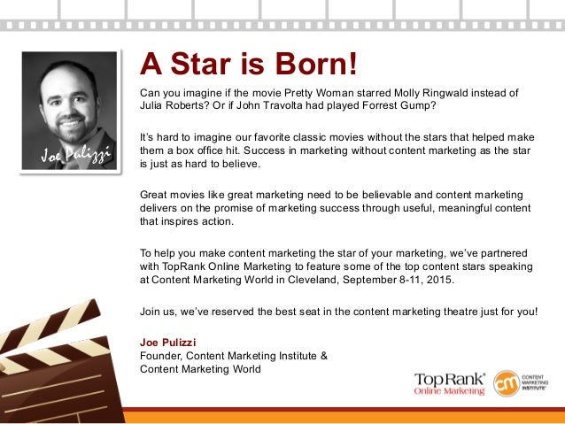 Making Content Marketing the Star of Your Marketing Slide 2