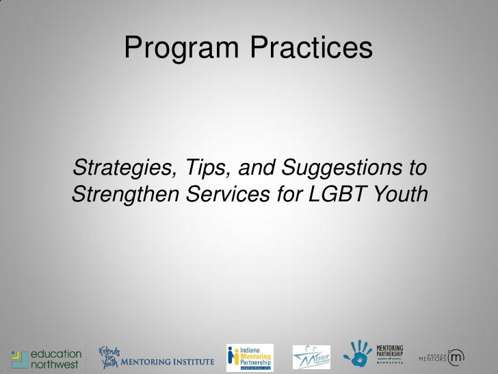 Mentoring gay youth