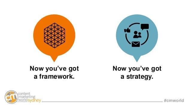 #cmworld Now you've got a framework. Now you've got a strategy.