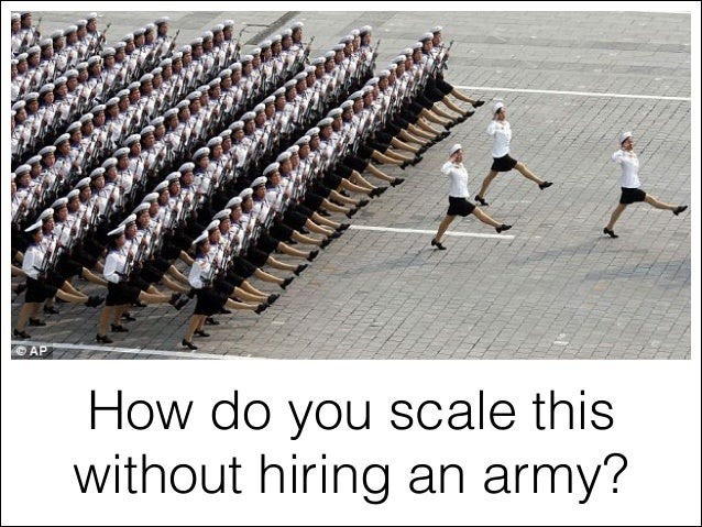 How do you scale this without hiring an army?