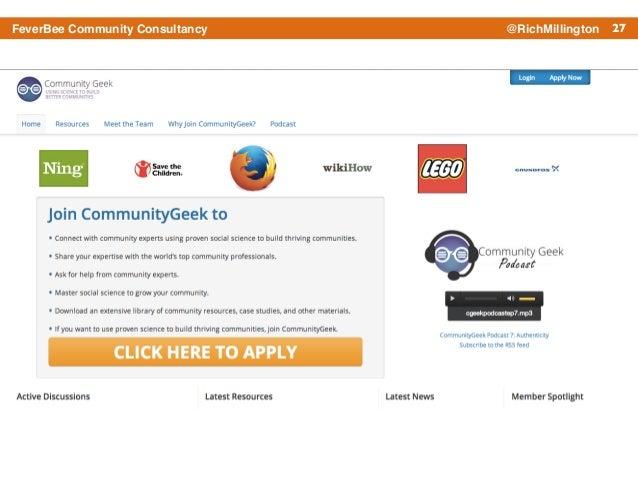 27FeverBee Community Consultancy @RichMillington