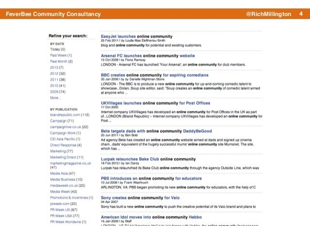 4FeverBee Community Consultancy @RichMillington