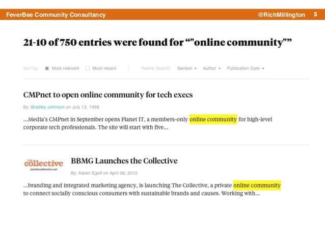 5FeverBee Community Consultancy @RichMillington