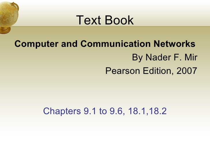 computer and communication networks nader f mir pdf