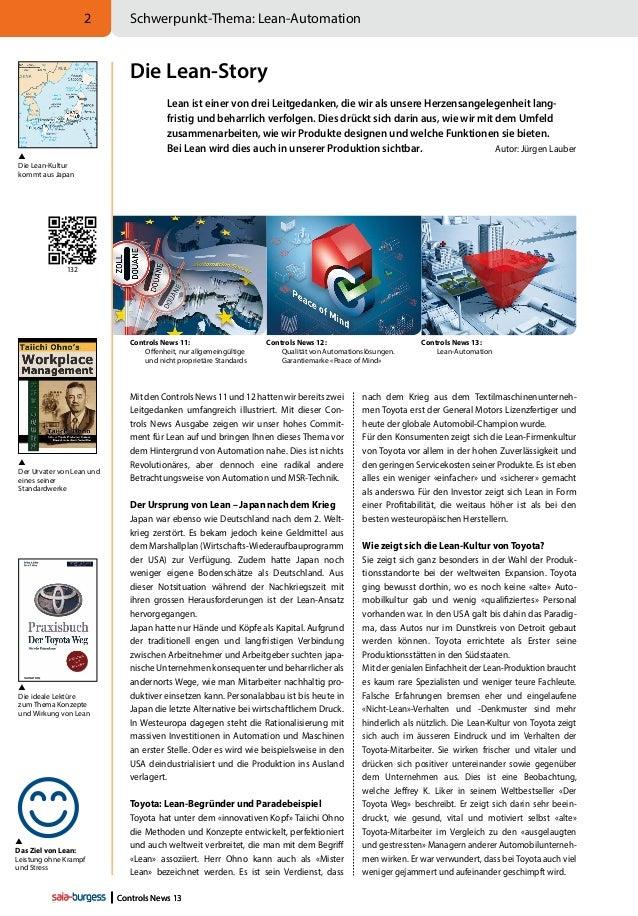 2  Schwerpunkt-Thema: Lean-Automation  Die Lean-Story    Die Lean-Kultur kommt aus Japan  Lean ist einer von drei Leitge...