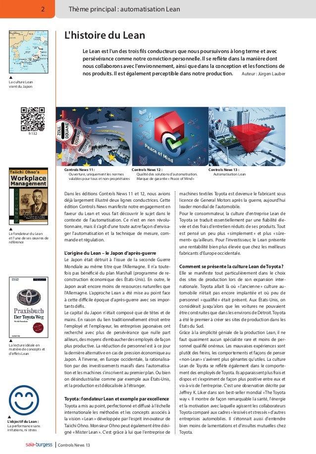 2  Thème principal: automatisation Lean  L'histoire du Lean    La culture Lean vient du Japon  Le Lean est l'un des tro...