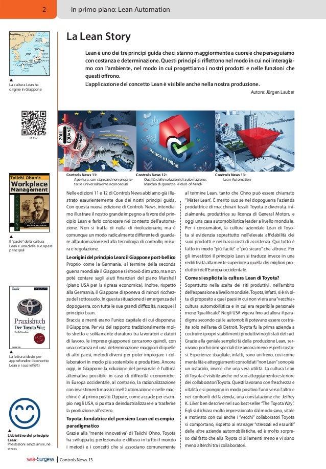 2  In primo piano: Lean Automation  La Lean Story    La cultura Lean ha origine in Giappone  Lean è uno dei tre principi...