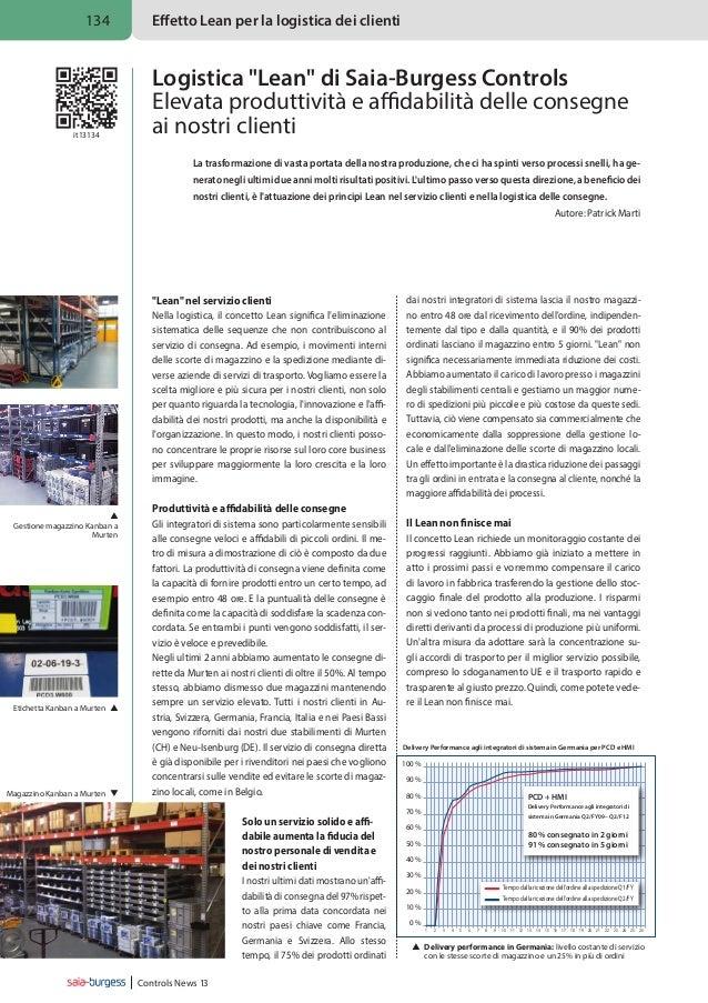 134  it13134  Effetto Lean per la logistica dei clienti  Logistica Lean di Saia-Burgess Controls Elevata produttività e af...