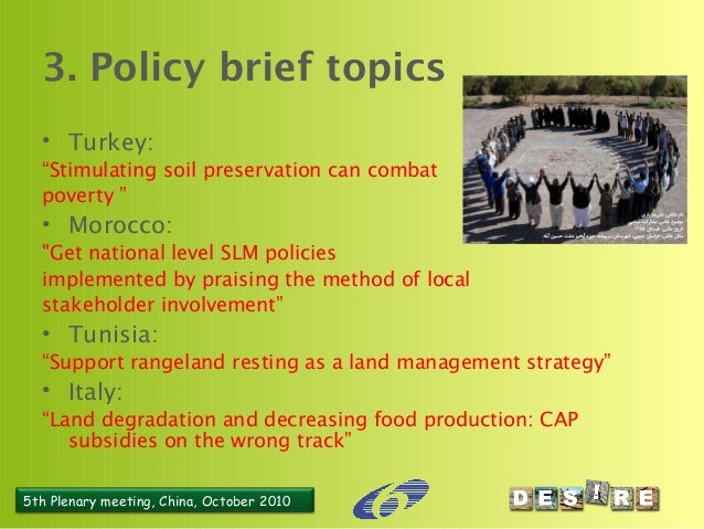 possible policy brief topics