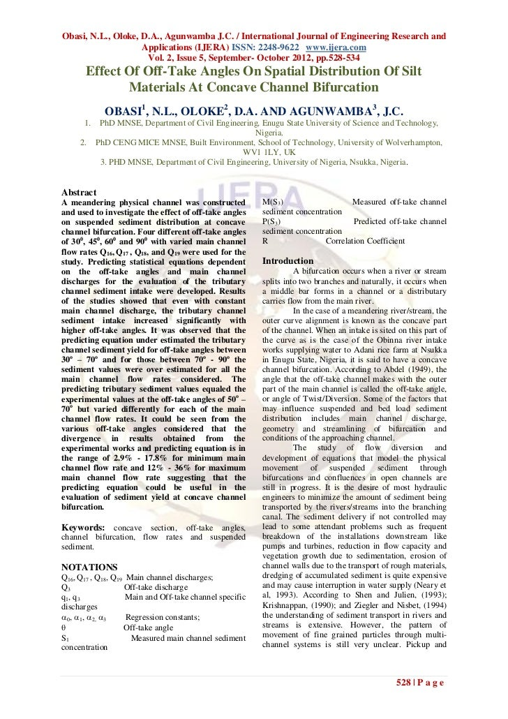 Obasi, N.L., Oloke, D.A., Agunwamba J.C. / International Journal of Engineering Research and                    Applicatio...
