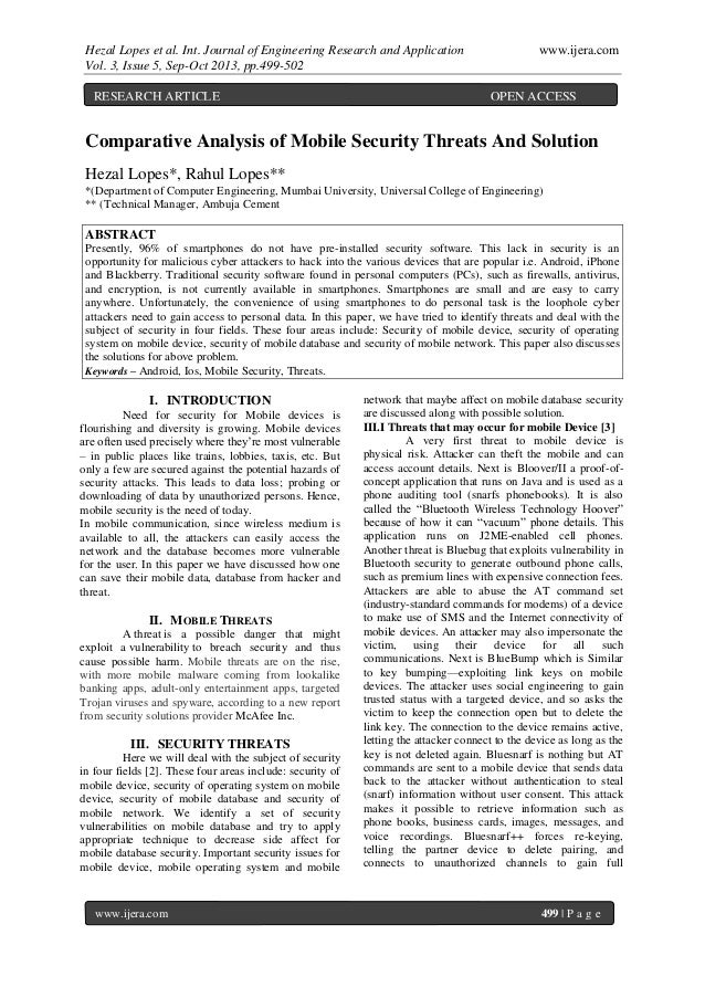 Hezal Lopes et al. Int. Journal of Engineering Research and Application www.ijera.com Vol. 3, Issue 5, Sep-Oct 2013, pp.49...