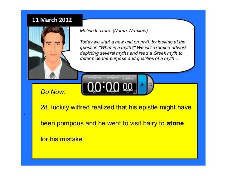 11 March 2012                      Matisa ti axaro! (Nama, Namibia)                      Today we start a new unit on ...