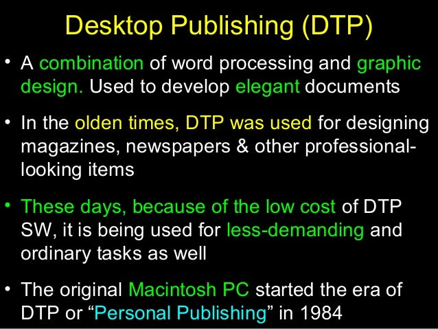 Word Processing Dtp