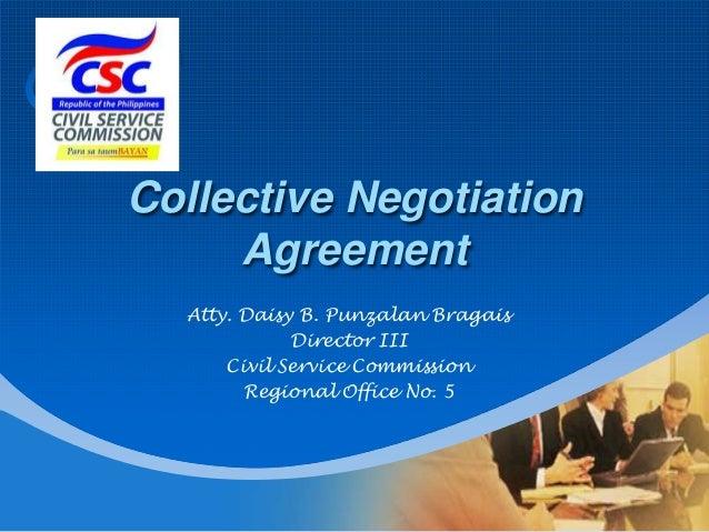 Company  LOGO  Collective Negotiation Agreement Atty. Daisy B. Punzalan Bragais Director III Civil Service Commission Regi...