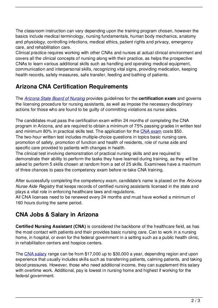 CNA Training in Arizona