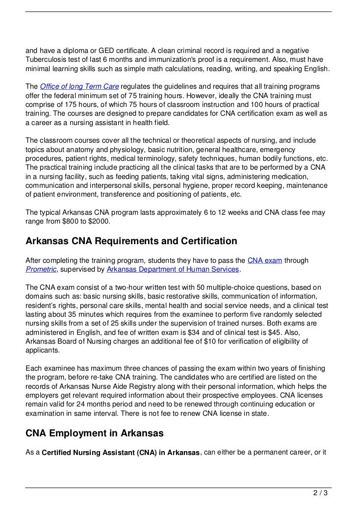 Cna Training In Arkansas