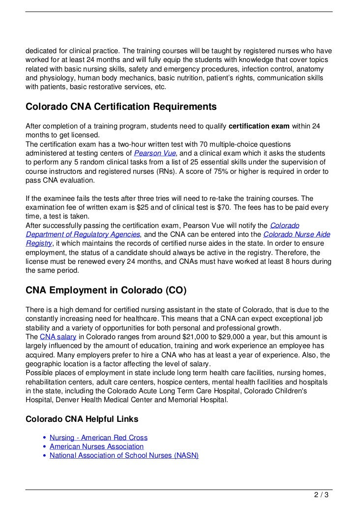 Cna Training In Colorado