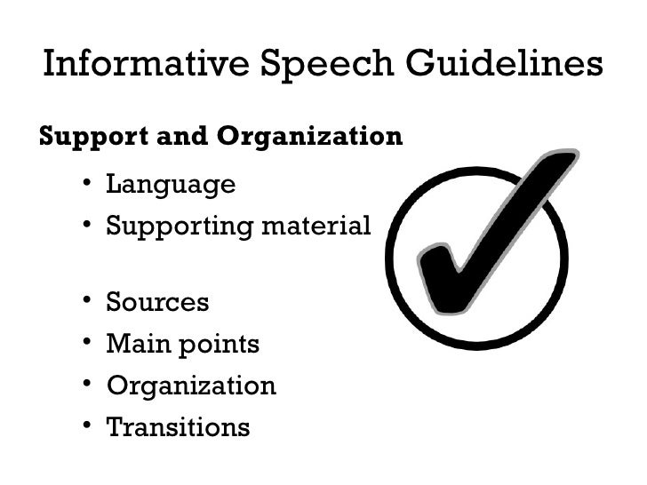 what to do an informative speech on