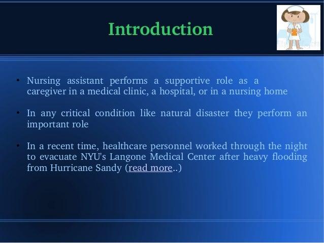 CNA Duties - Emergency Situaton