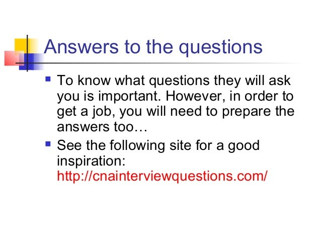 7 answers to the questions