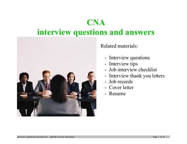 cna interview questions and answers related materials interview questions interview tips job