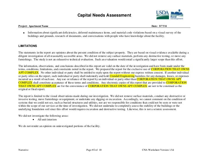 ... 2. Capital Needs ...