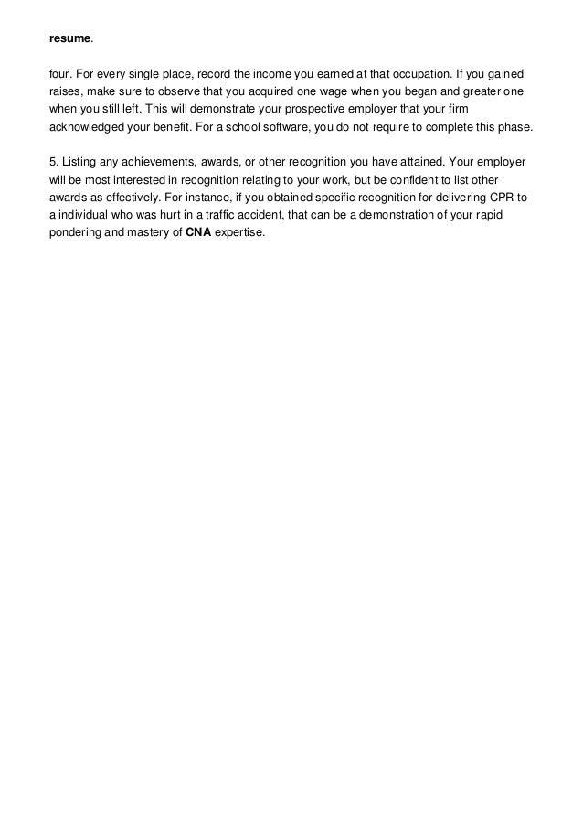2 resumefour - How To Do A Cna Resume