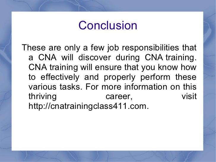 CNA Training And The Job Responsibilities of A CNA