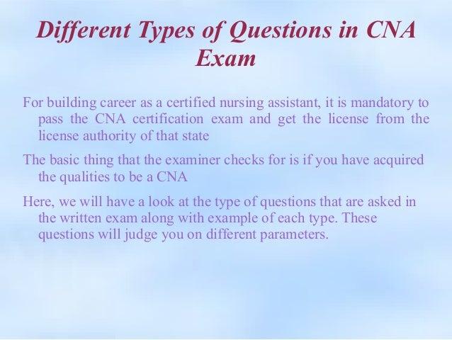 Certified Nursing Assistant Cna Mail: Cna Written Test