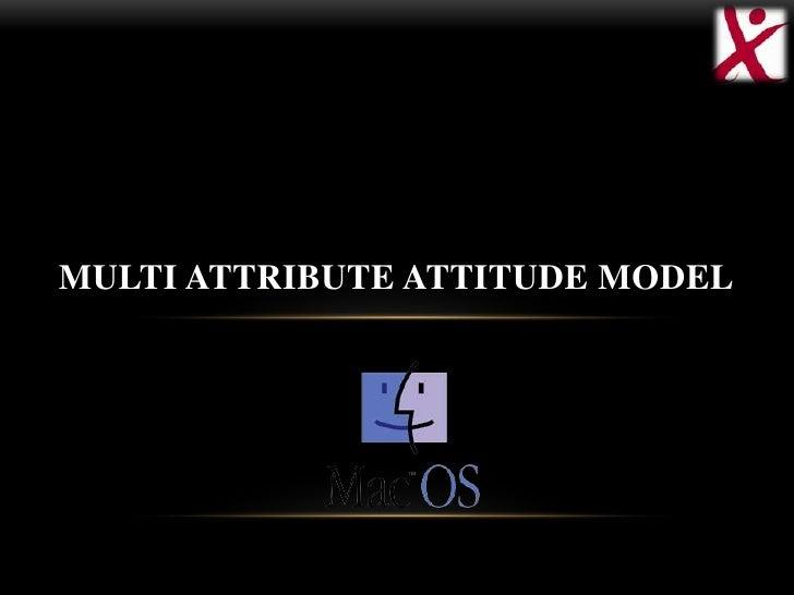 MULTI ATTRIBUTE ATTITUDE MODEL