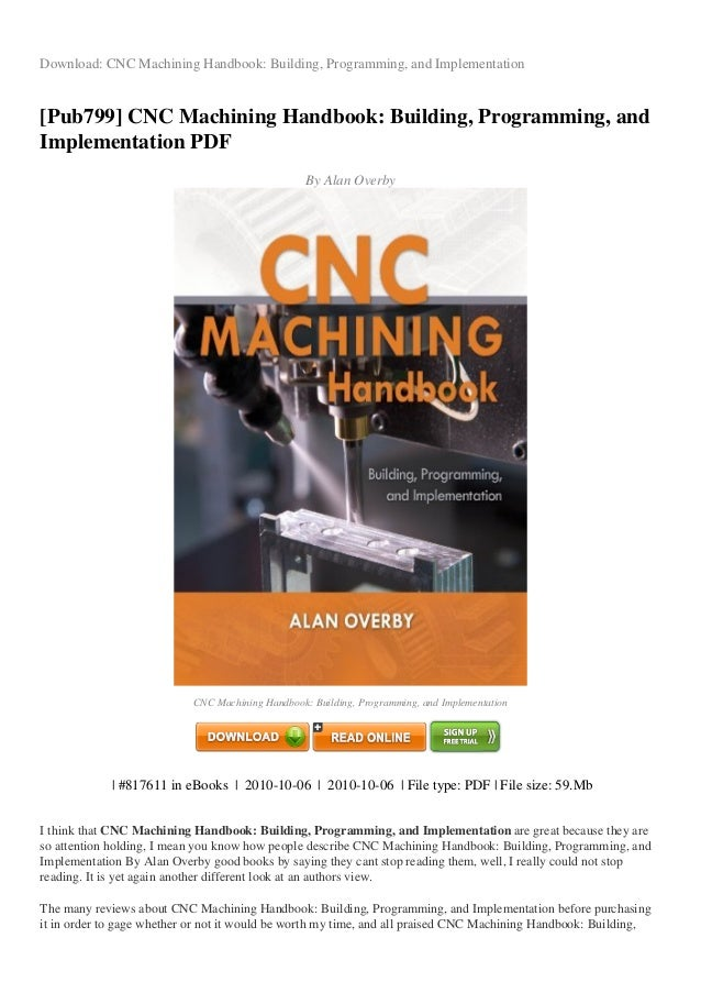 Review Cnc Machining Handbook Building Programming And Implementation