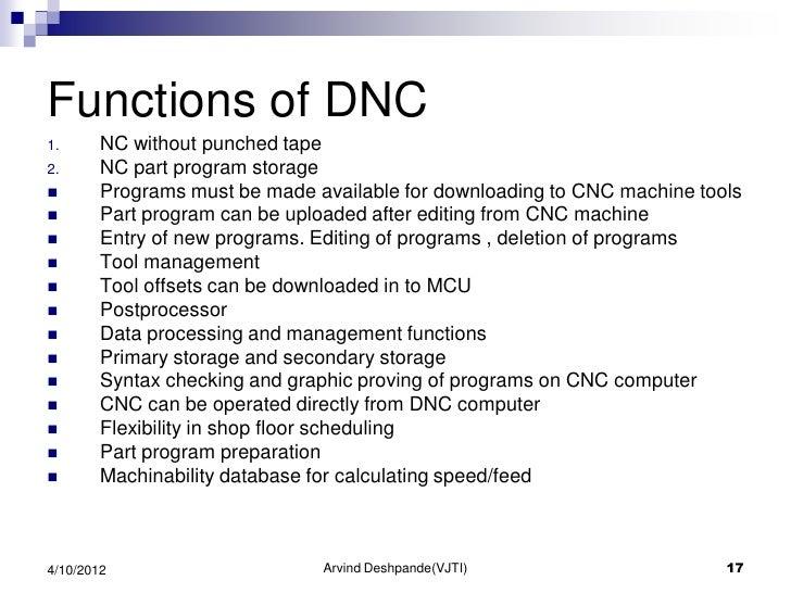 Cnc, dnc & adaptive control