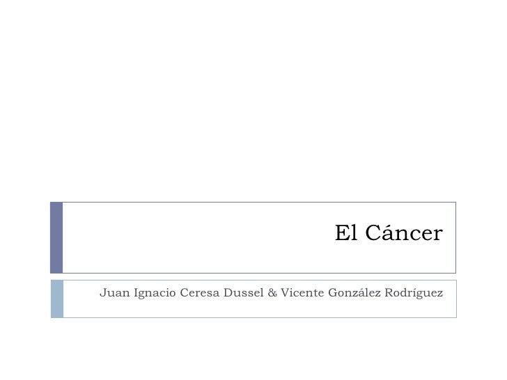 El Cáncer Juan Ignacio Ceresa Dussel & Vicente González Rodríguez