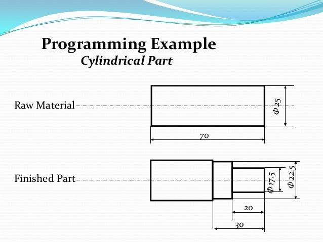 cnc lathe machine program