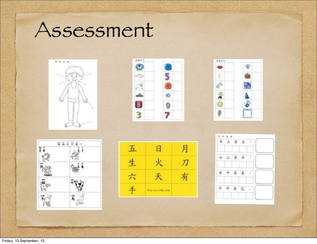 Assessment Friday, 13 September, 13