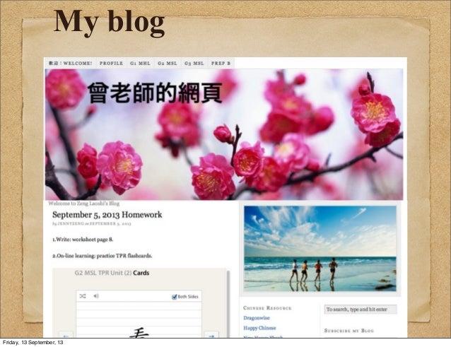 My blog Friday, 13 September, 13