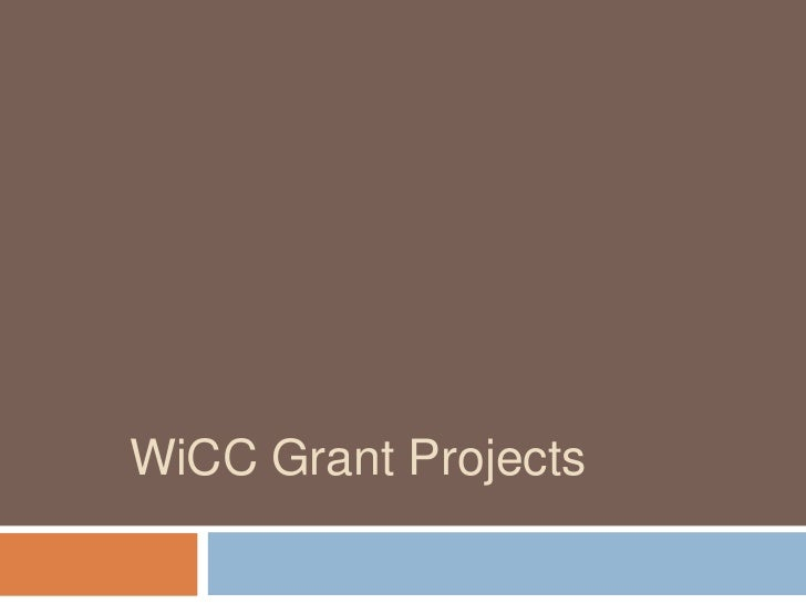 WiCC Grant Projects