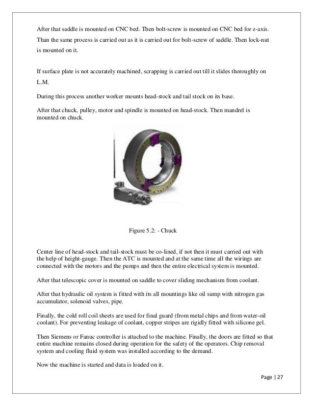 A Project Report on CNC Training