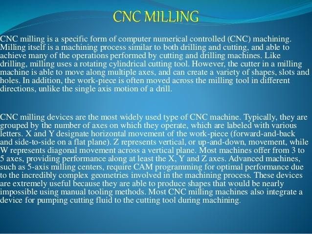 Example of CNC Milling program