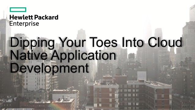 Dipping Your Toes Into Cloud Native Application Development
