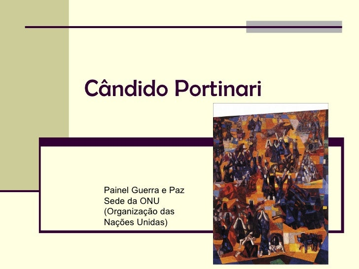 Cândido Portinari Painel Guerra e Paz Sede da ONU (Organização das  Nações Unidas)