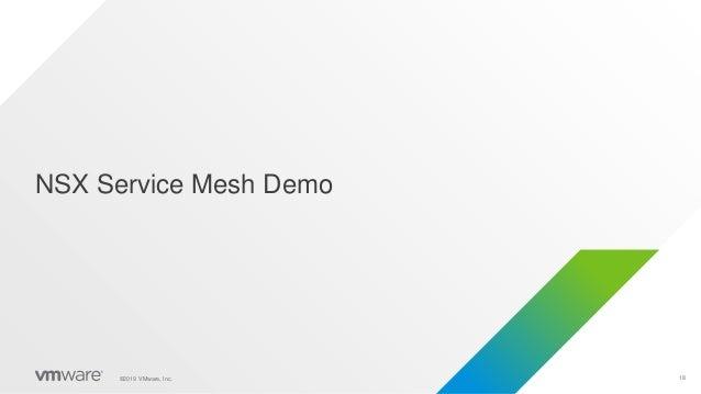 18©2019 VMware, Inc. NSX Service Mesh Demo