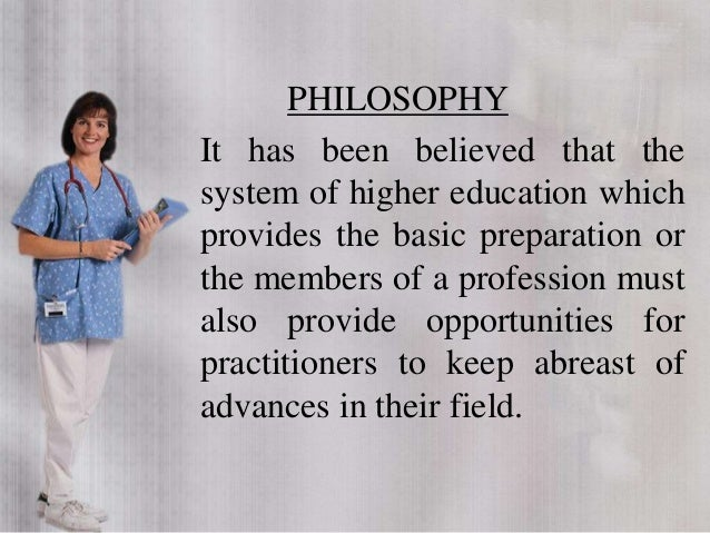 PHILOSOPHY It has been believed that the system of higher education which provides the basic preparation or the members of...