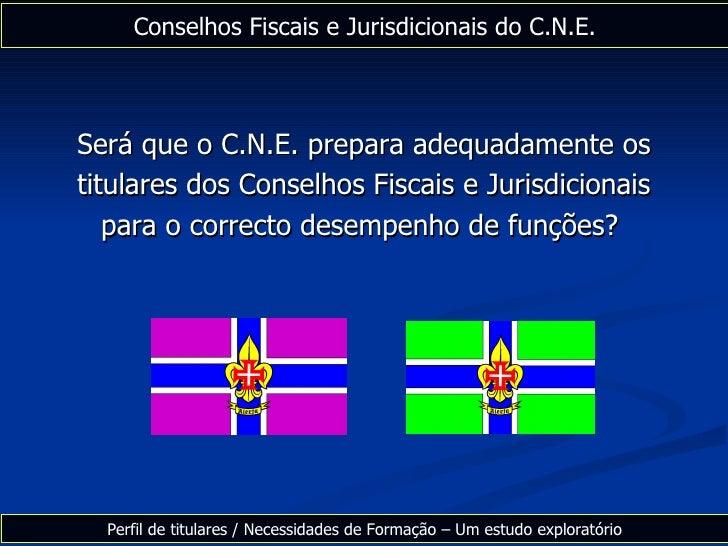 Será que o C.N.E. prepara adequadamente os titulares dos Conselhos Fiscais e Jurisdicionais para o correcto desempenho de ...