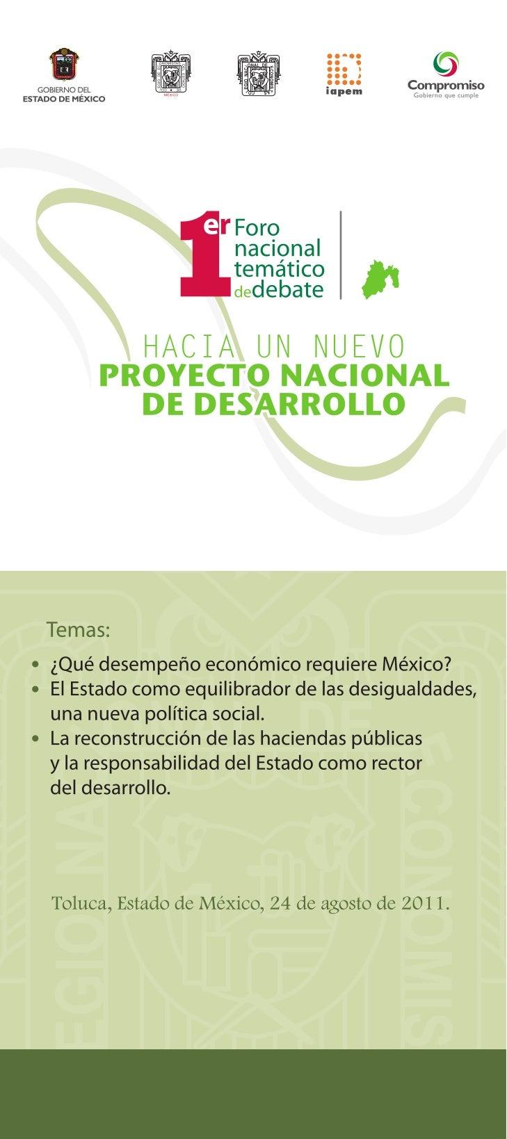 24-08-11 Temáticas - 1er foro debate nacional CNE