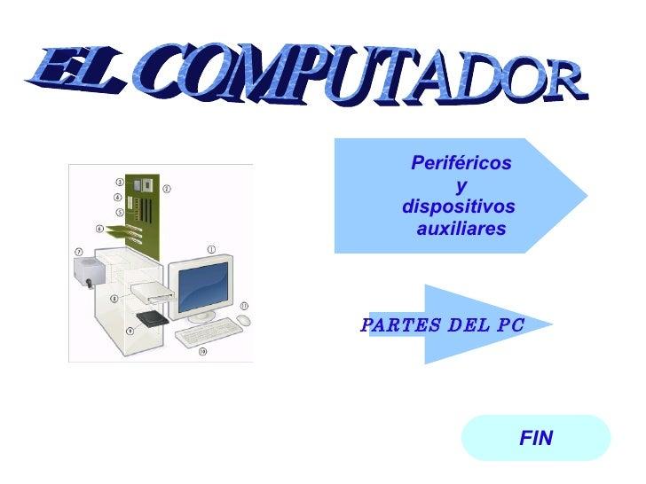 FIN PARTES DEL PC Periféricos y  dispositivos  auxiliares EL COMPUTADOR
