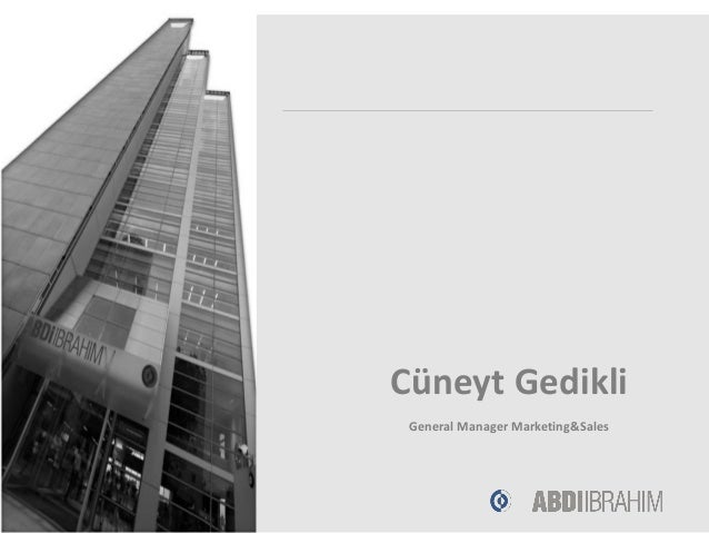 Cüneyt Gedikli General Manager Marketing&Sales