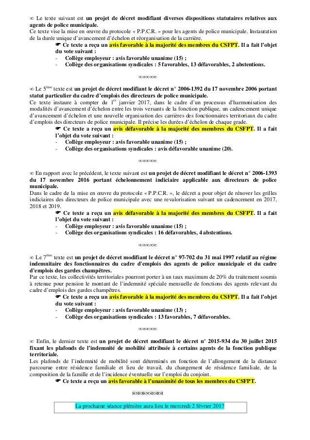 Cnfpt communique de presse du 14 decembre 2016 - Grille indiciaire des ingenieurs territoriaux ...